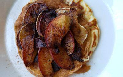 Pannenkoekjes met gebakken appel